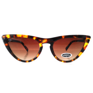 "OCCHIALI DA SOLE "" SLIM CAT EYES ""  LEOPARD"