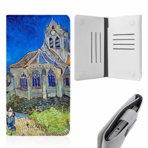 "Smart Cover universale in ecopelle per qualsiasi smartphone "" Chiesa Auvers """