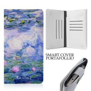 "Smart Cover universale in ecopelle per qualsiasi smartphone "" Ninfee """