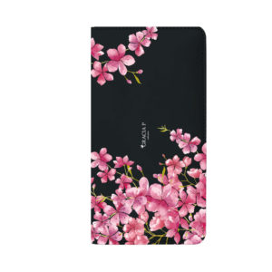 """Smart Cover universale in ecopelle per qualsiasi smartphone """" Sweet Flowers """""""