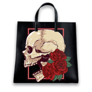 Shopper Skull Rose